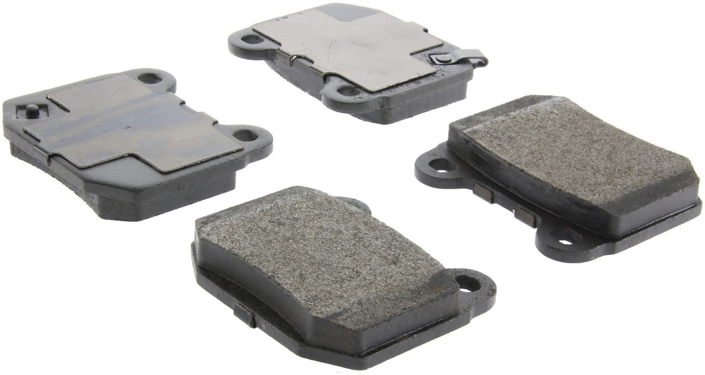 CENTRIC PARTS - Posi-Quiet Metallic Disc Brake Pad w/Shims & Hardware-Preferred (Rear) - CEC 104.09610