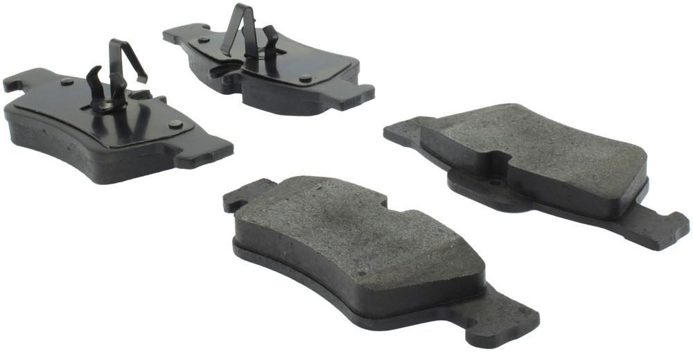 CENTRIC PARTS - Posi-Quiet Metallic Disc Brake Pad w/Shims & Hardware-Preferred (Rear) - CEC 104.09860
