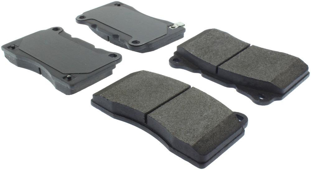 CENTRIC PARTS - Posi-Quiet Metallic Disc Brake Pad w/Shims & Hardware-Preferred (Rear) - CEC 104.10500