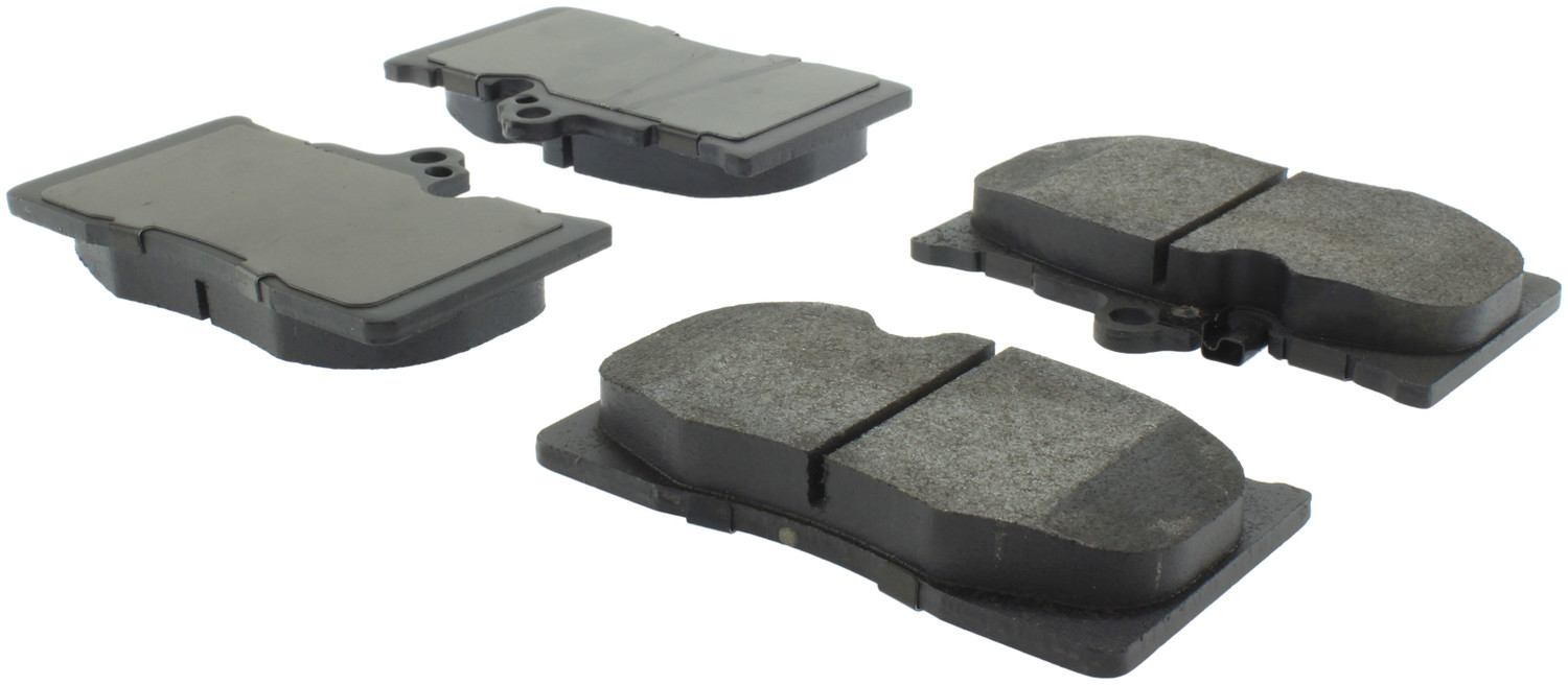 CENTRIC PARTS - Posi-Quiet Metallic Disc Brake Pad w/Shims & Hardware-Preferred (Front) - CEC 104.11180