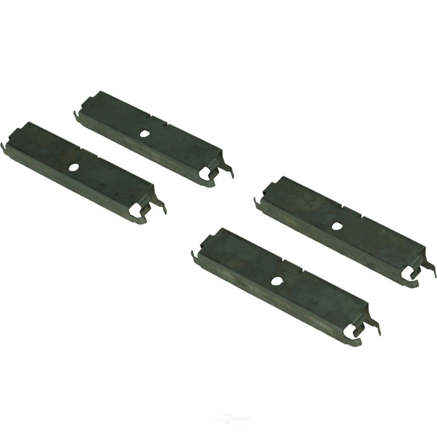 CENTRIC PARTS - Posi-Quiet Metallic Disc Brake Pad w/Shims & Hardware-Preferred (Rear) - CEC 104.11200