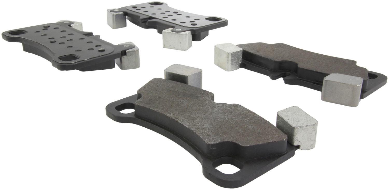 CENTRIC PARTS - Posi-Quiet Metallic Disc Brake Pad w/Shims & Hardware-Preferred (Rear) - CEC 104.13500
