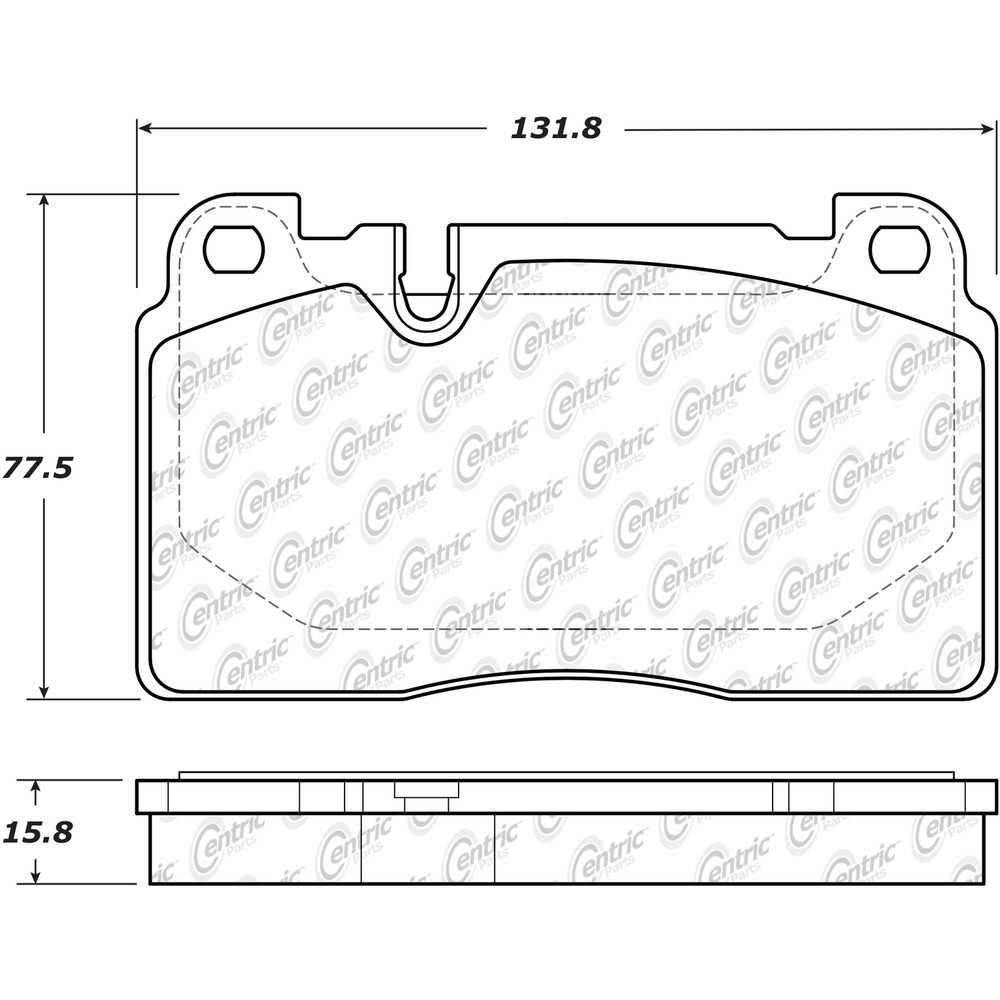 CENTRIC PARTS - Posi-Quiet Metallic Disc Brake Pad w/Shims & Hardware-Preferred (Front) - CEC 104.16630