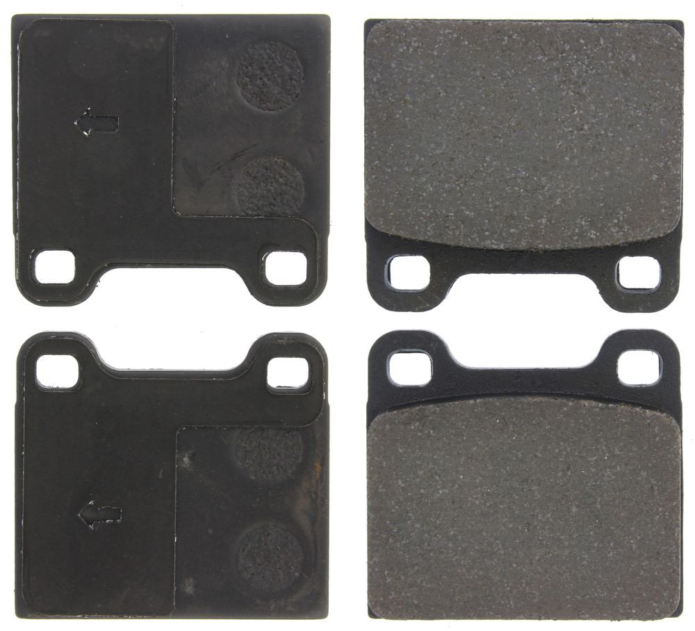 CENTRIC PARTS - Posi-Quiet Ceramic Disc Brake Pad w/Shims-Preferred (Rear) - CEC 105.00310