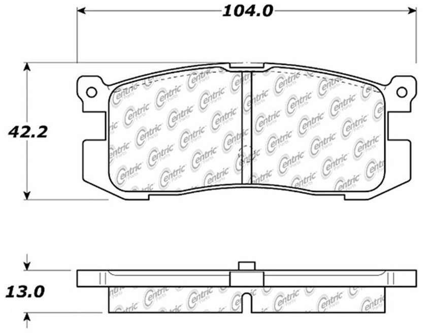 CENTRIC PARTS - Posi-Quiet Ceramic Disc Brake Pad w/Shims & Hardware-Preferred (Rear) - CEC 105.04000