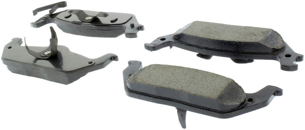 CENTRIC PARTS - Posi-Quiet Ceramic Disc Brake Pad w/Shims & Hardware-Preferred (Rear) - CEC 105.10120