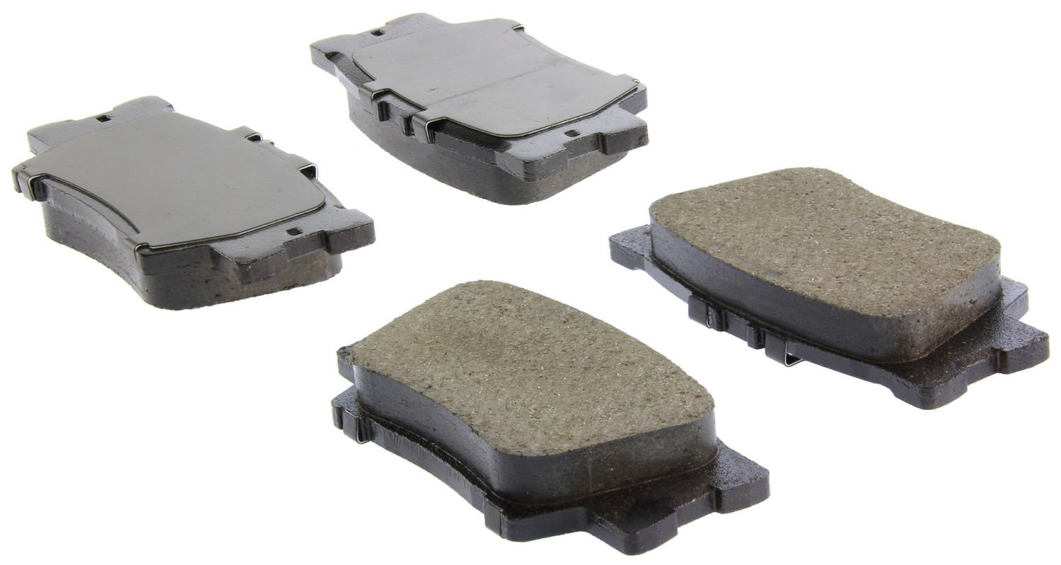 CENTRIC PARTS - Posi-Quiet Ceramic Disc Brake Pad w/Shims & Hardware-Preferred (Rear) - CEC 105.12120