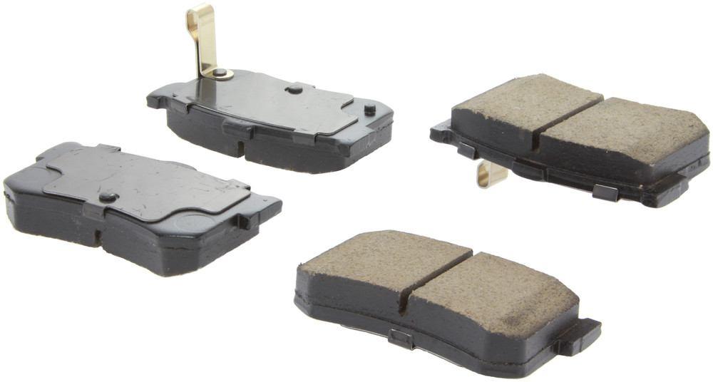 CENTRIC PARTS - Posi-Quiet Ceramic Disc Brake Pad w/Shims & Hardware-Preferred (Rear) - CEC 105.12620