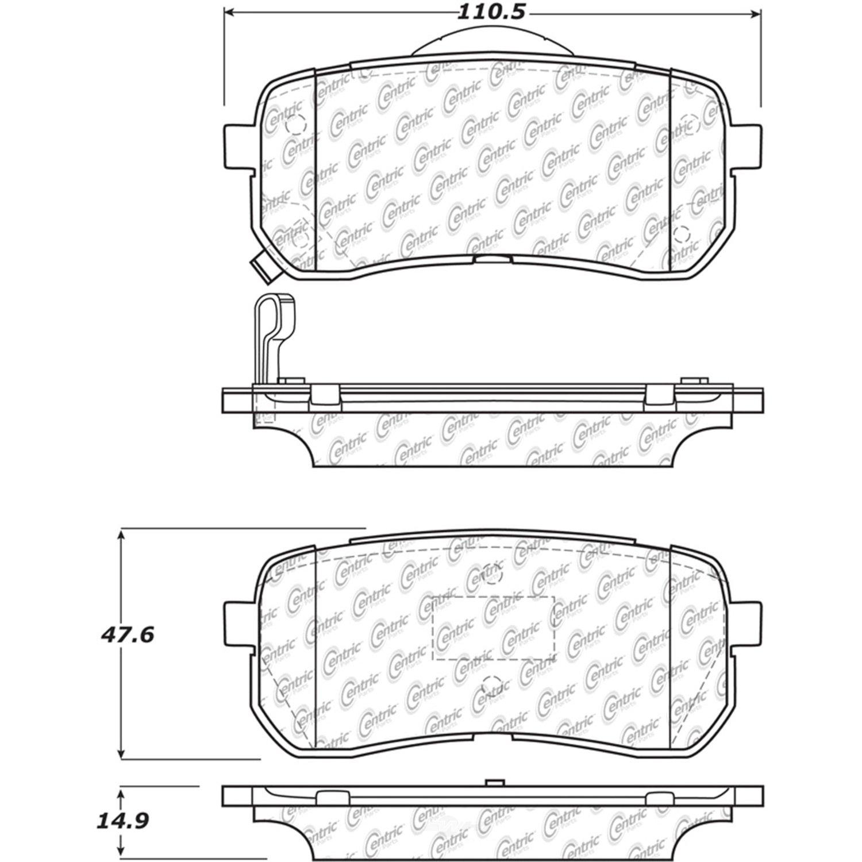 CENTRIC PARTS - Centric Posi-Quiet Ceramic Disc Brake Pad Sets (Rear) - CEC 105.13020
