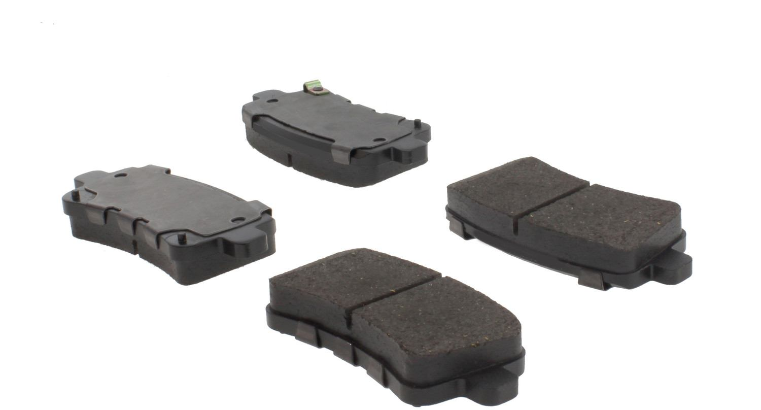 CENTRIC PARTS - Posi-Quiet Ceramic Disc Brake Pad w/Shims & Hardware-Preferred (Rear) - CEC 105.14302