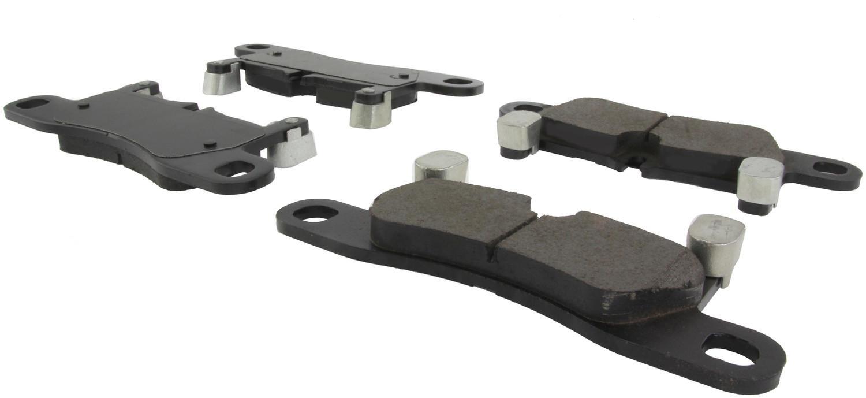 CENTRIC PARTS - Posi-Quiet Ceramic Disc Brake Pad w/Shims & Hardware-Preferred (Rear) - CEC 105.14530
