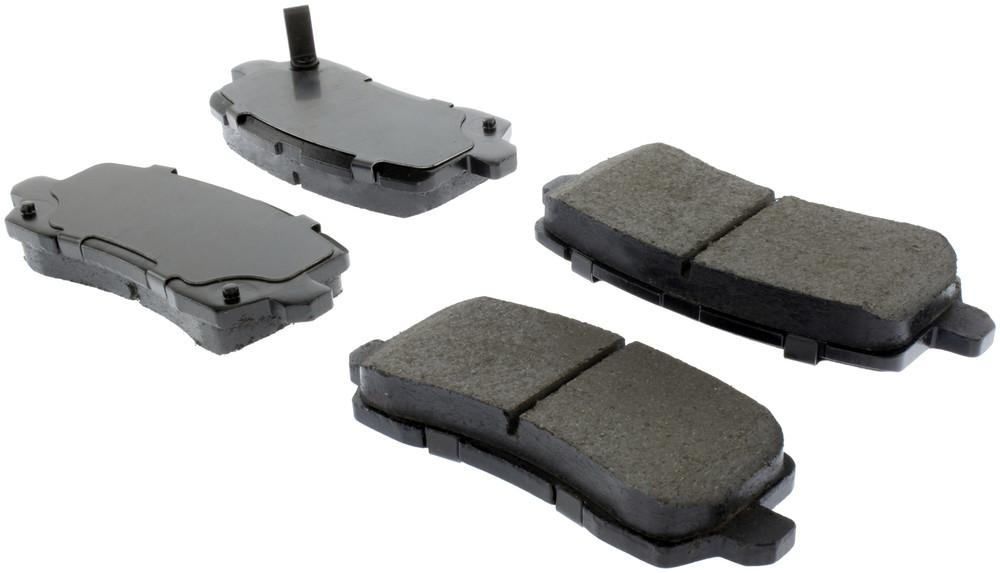 CENTRIC PARTS - Posi-Quiet Ceramic Disc Brake Pad w/Shims & Hardware-Preferred (Rear) - CEC 105.16980