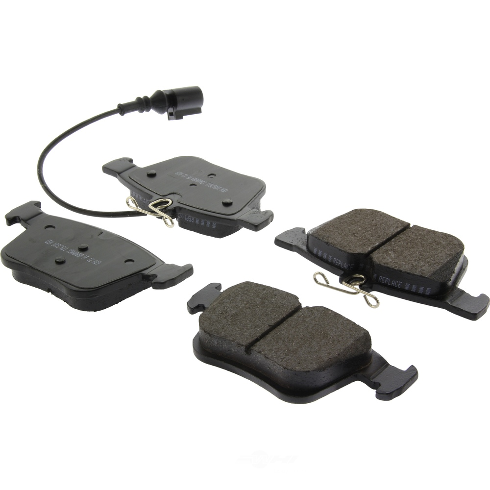 CENTRIC PARTS - Posi-Quiet Ceramic Disc Brake Pad w/Shims-Preferred (Rear) - CEC 105.17611