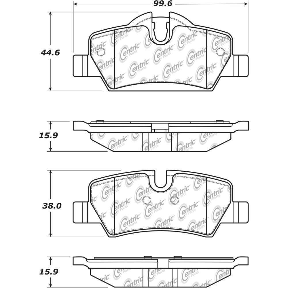 CENTRIC PARTS - Centric Posi-Quiet Ceramic Disc Brake Pad Sets (Rear) - CEC 105.18000