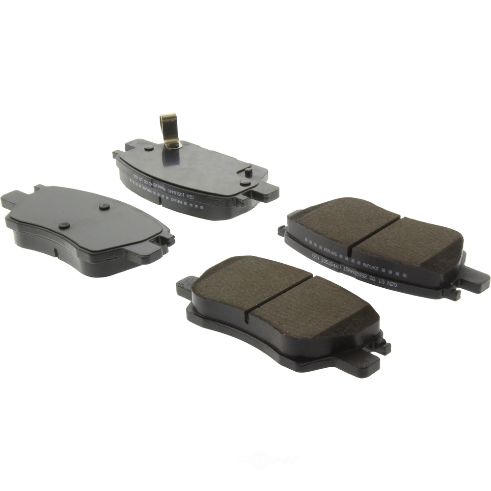CENTRIC PARTS - Posi-Quiet Ceramic Disc Brake Pad w/Shims-Preferred (Front) - CEC 105.18440