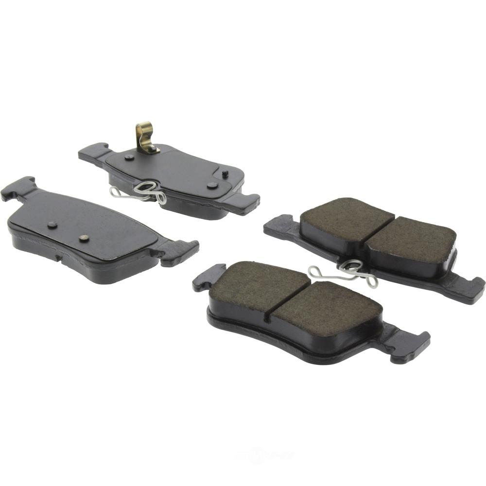 CENTRIC PARTS - Posi-Quiet Ceramic Disc Brake Pad w/Shims & Hardware-Preferred (Rear) - CEC 105.18780