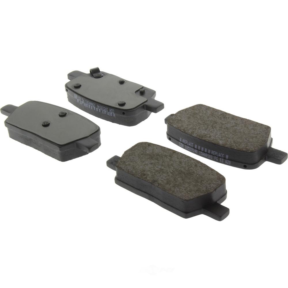 CENTRIC PARTS - Posi-Quiet Ceramic Disc Brake Pad w/Shims-Preferred (Rear) - CEC 105.19140