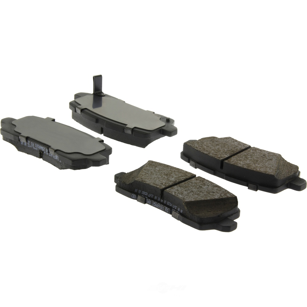 CENTRIC PARTS - Posi-Quiet Ceramic Disc Brake Pad w/Shims-Preferred (Rear) - CEC 105.19540
