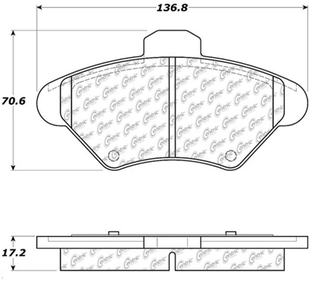CENTRIC PARTS - Posi-Quiet Extended Wear Disc Brake Pad w/Shims & Hardware (Front) - CEC 106.06000