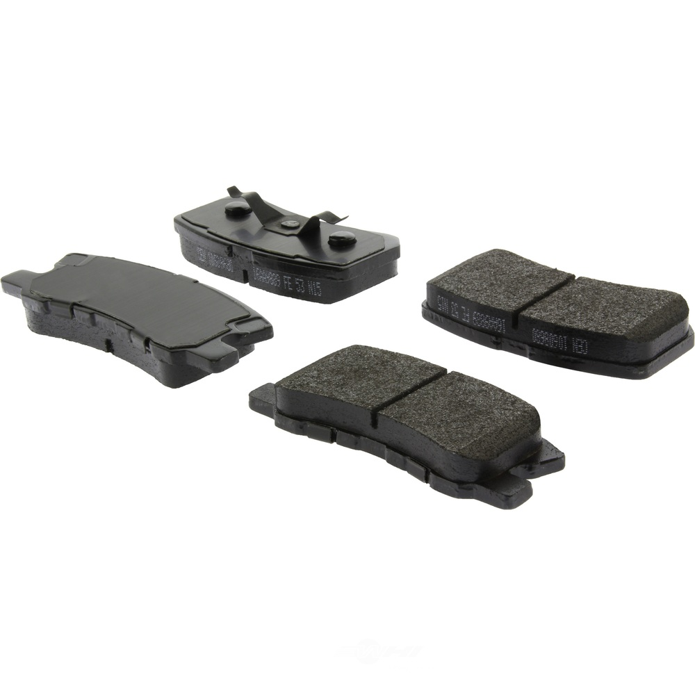 CENTRIC PARTS - Posi-Quiet Extended Wear Disc Brake Pad w/Shims & Hrdwr (Rear) - CEC 106.08680