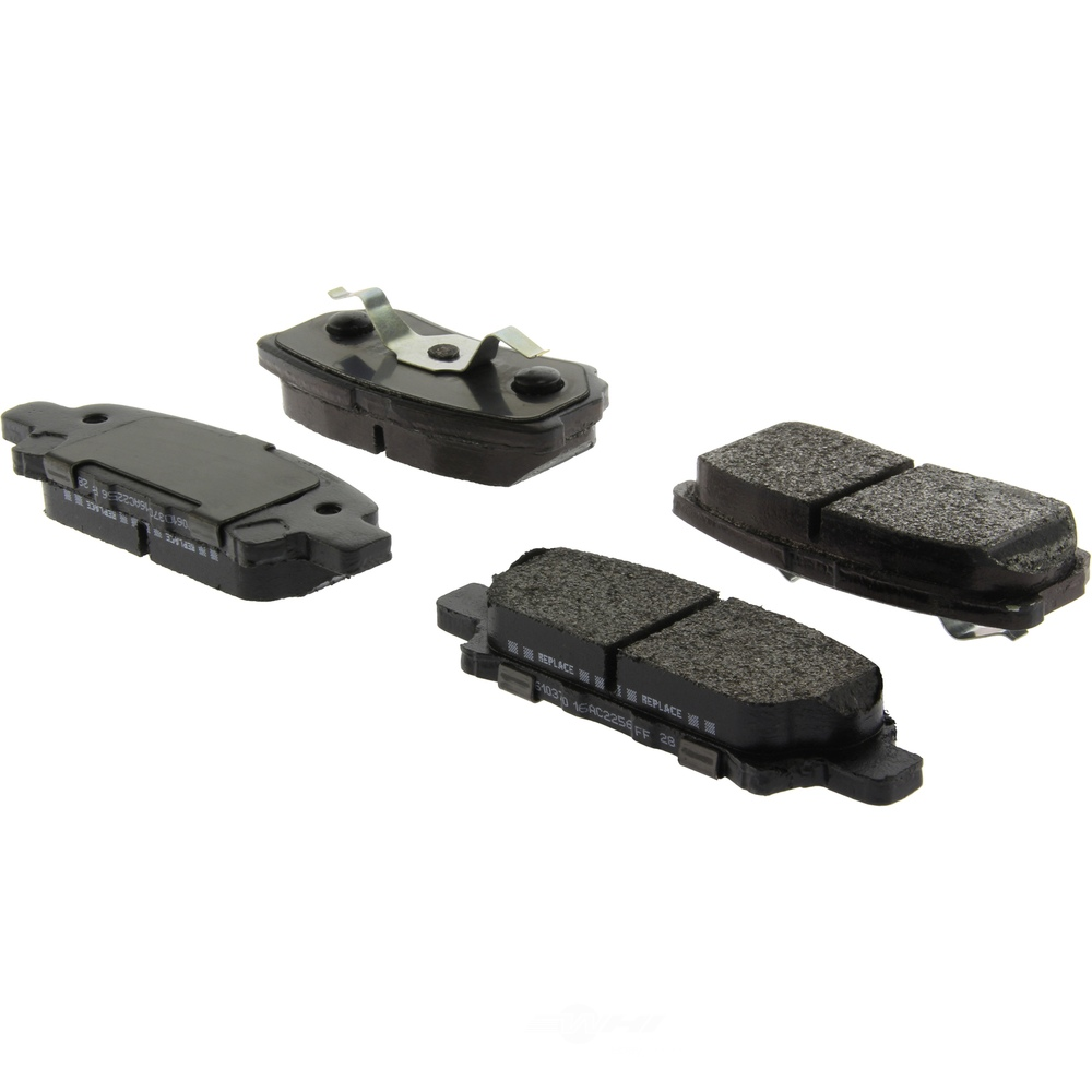 CENTRIC PARTS - Centric Posi-Quiet Extended Wear Semi-Metallic Disc Brake Pad Sets (Rear) - CEC 106.10370