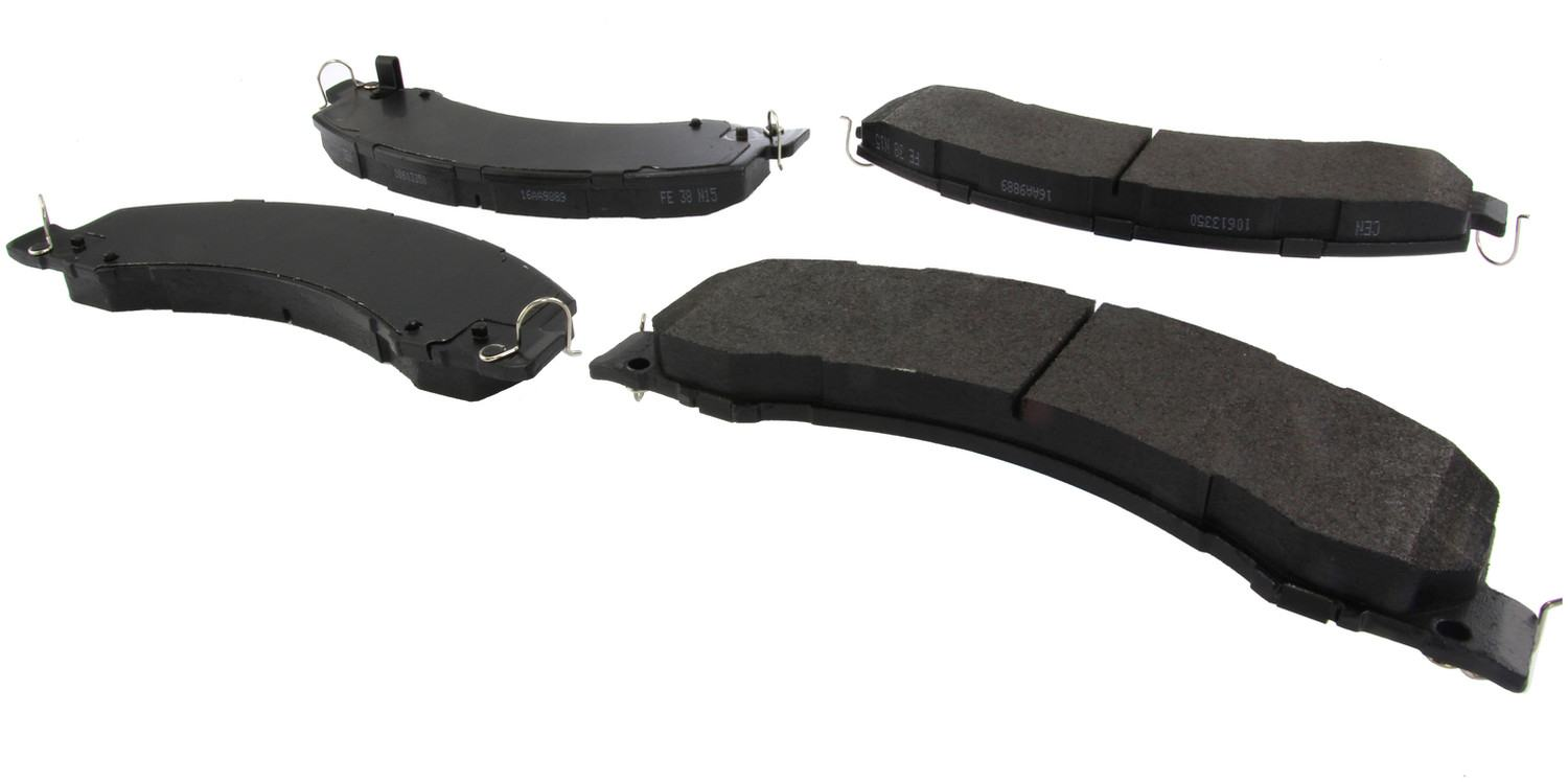 CENTRIC PARTS - Posi-Quiet Extended Wear Disc Brake Pad w/Shims & Hardware-Preferred (Front) - CEC 106.13350