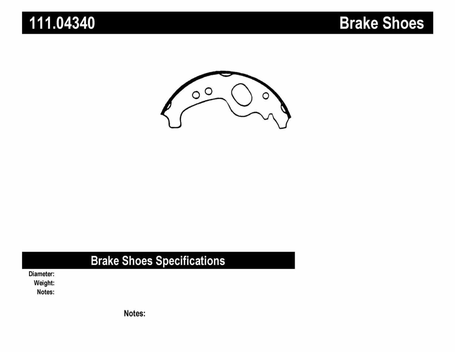 CENTRIC PARTS - Premium Brake Shoes-Preferred (Rear) - CEC 111.04340