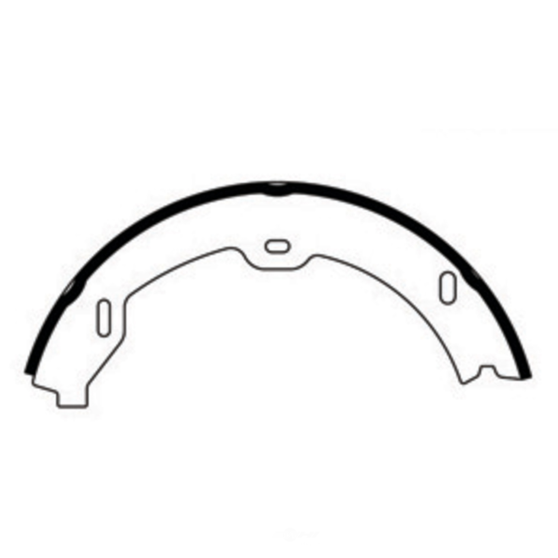 CENTRIC PARTS - Premium Brake Shoes-Preferred (Rear) - CEC 111.09510