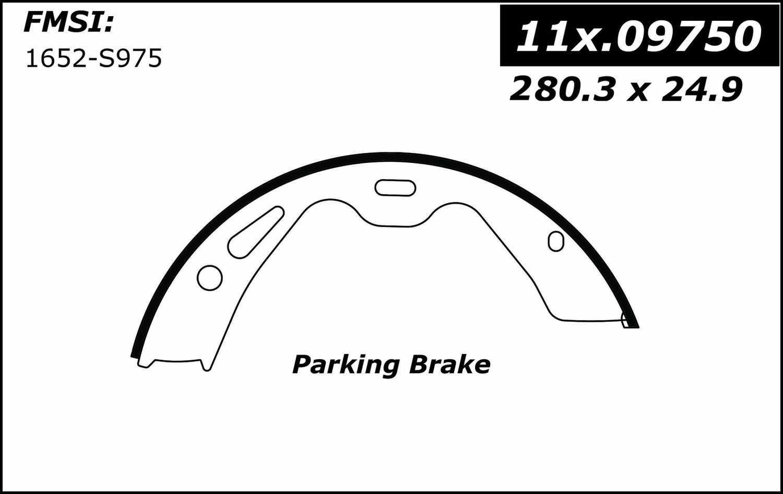 CENTRIC PARTS - Premium Brake Shoes-Preferred (Rear) - CEC 111.09750