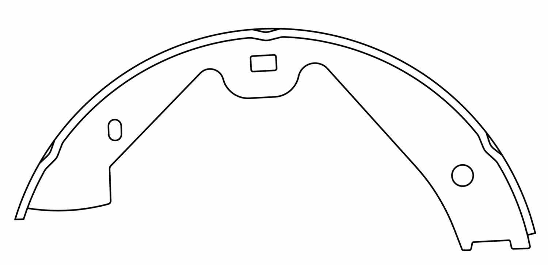 CENTRIC PARTS - Premium Brake Shoes-Preferred (Rear) - CEC 111.09870