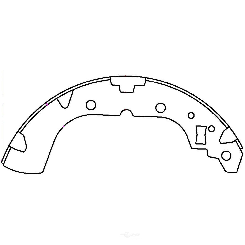 CENTRIC PARTS - Premium Brake Shoes-Preferred (Rear) - CEC 111.10590