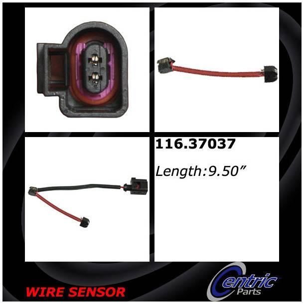 CENTRIC PARTS - Brake Pad Sensor Wires (Rear) - CEC 116.37037