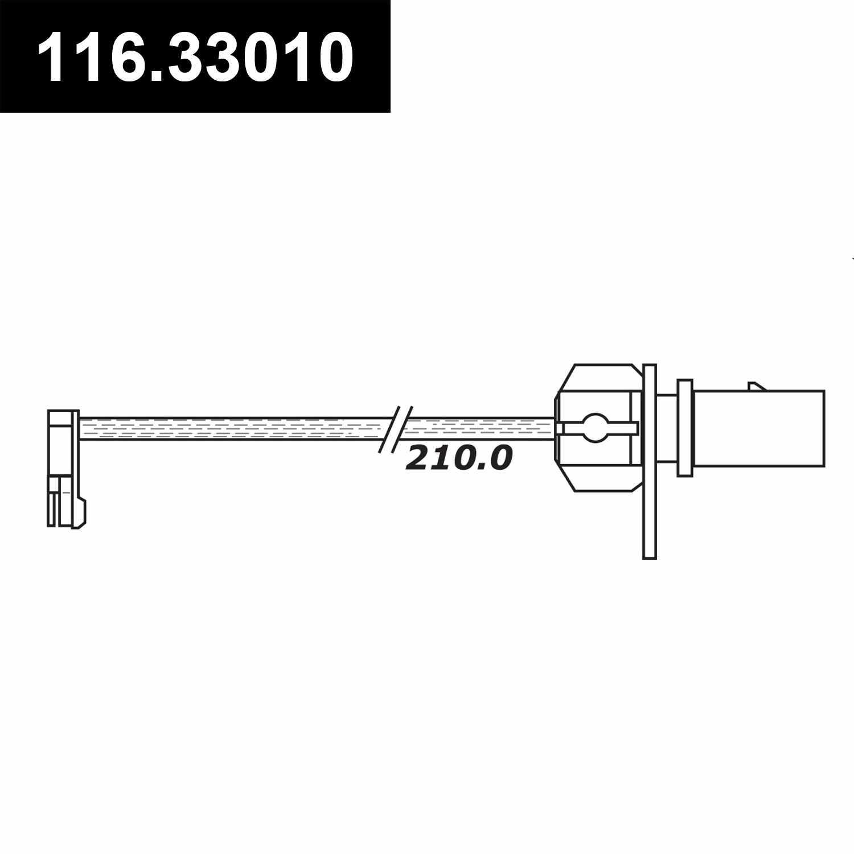 CENTRIC PARTS - Disc Brake Pad Electronic Wear Sensor - CEC 116.33010