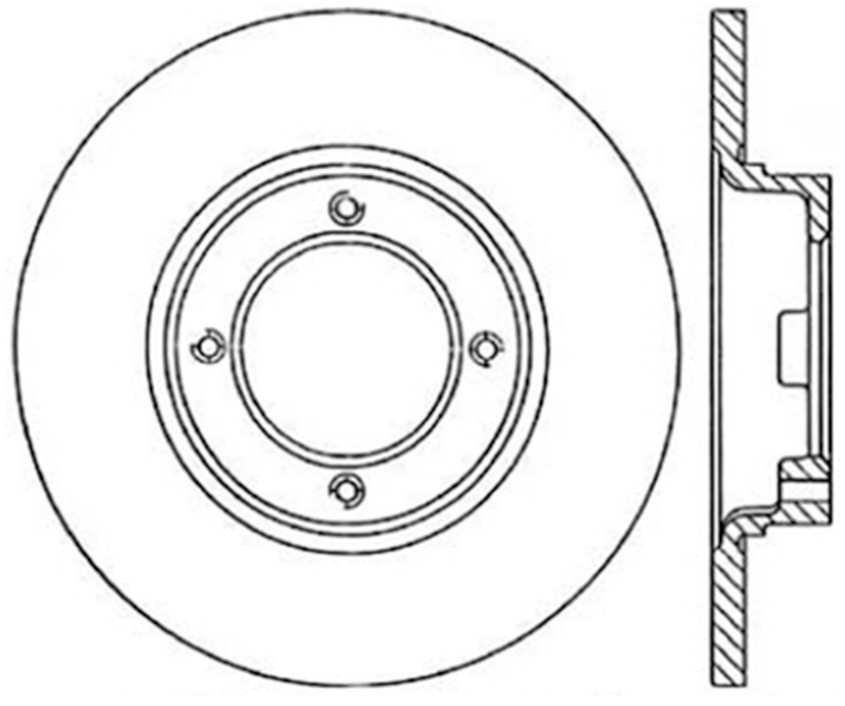 CENTRIC PARTS - Disc Brake Rotor (Front) - CEC 120.44000