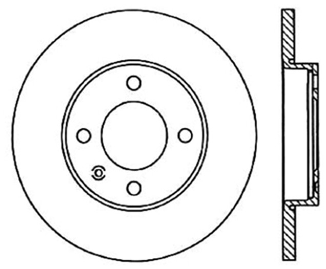 CENTRIC PARTS - Disc Brake Rotor - CEC 121.33003