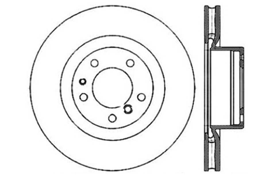 CENTRIC PARTS - Disc Brake Rotor (Front) - CEC 121.34035