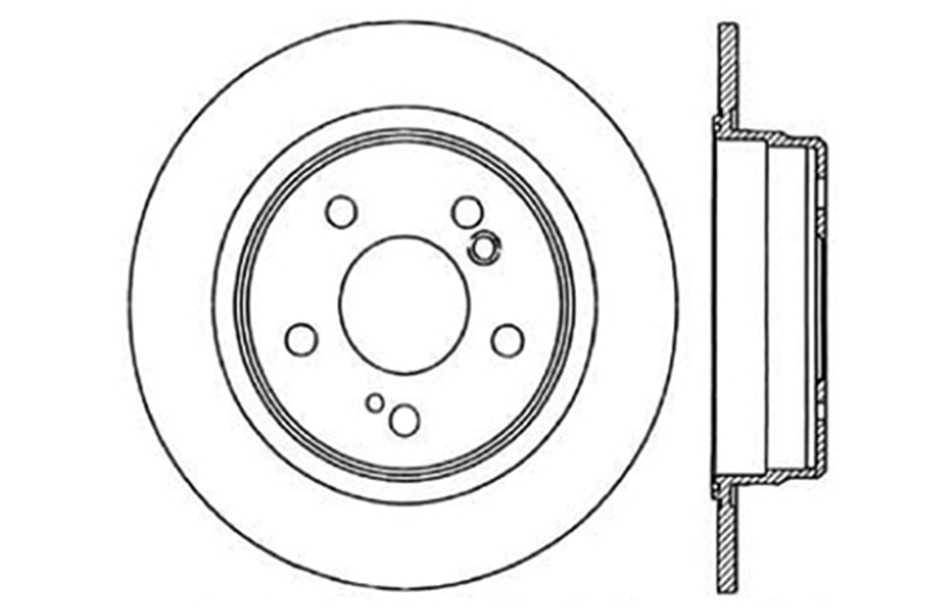 CENTRIC PARTS - Disc Brake Rotor - CEC 121.35018