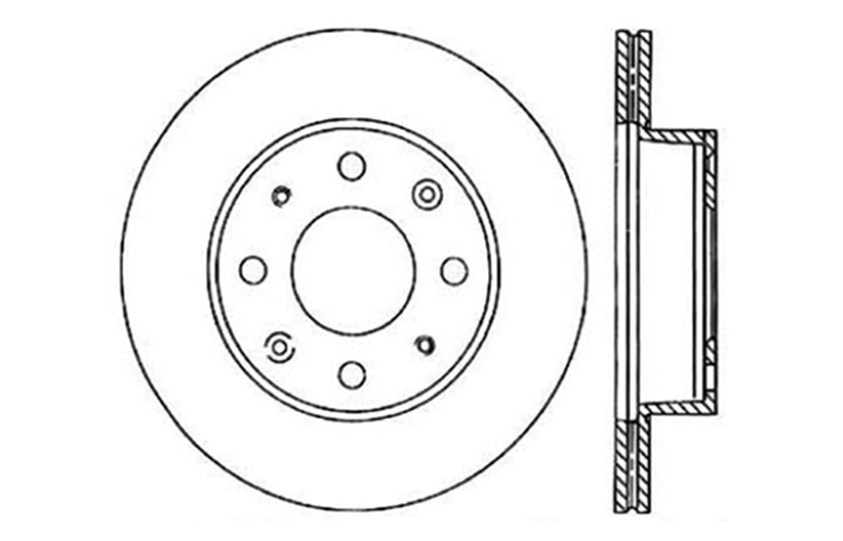 CENTRIC PARTS - Disc Brake Rotor - CEC 121.40005