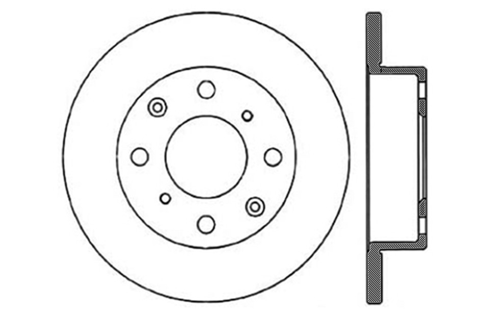 CENTRIC PARTS - Disc Brake Rotor - CEC 121.40006