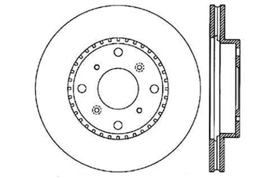 CENTRIC PARTS - Disc Brake Rotor (Front) - CEC 121.40032