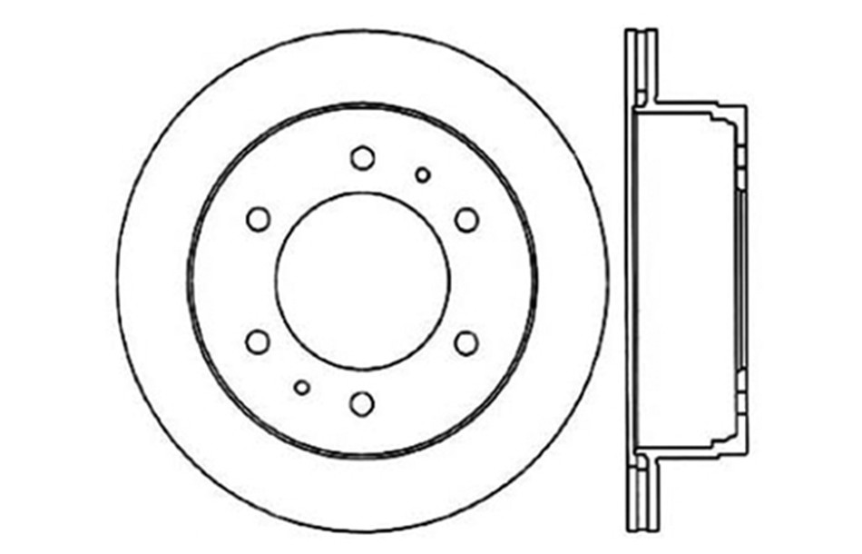 CENTRIC PARTS - Disc Brake Rotor (Rear) - CEC 121.42039