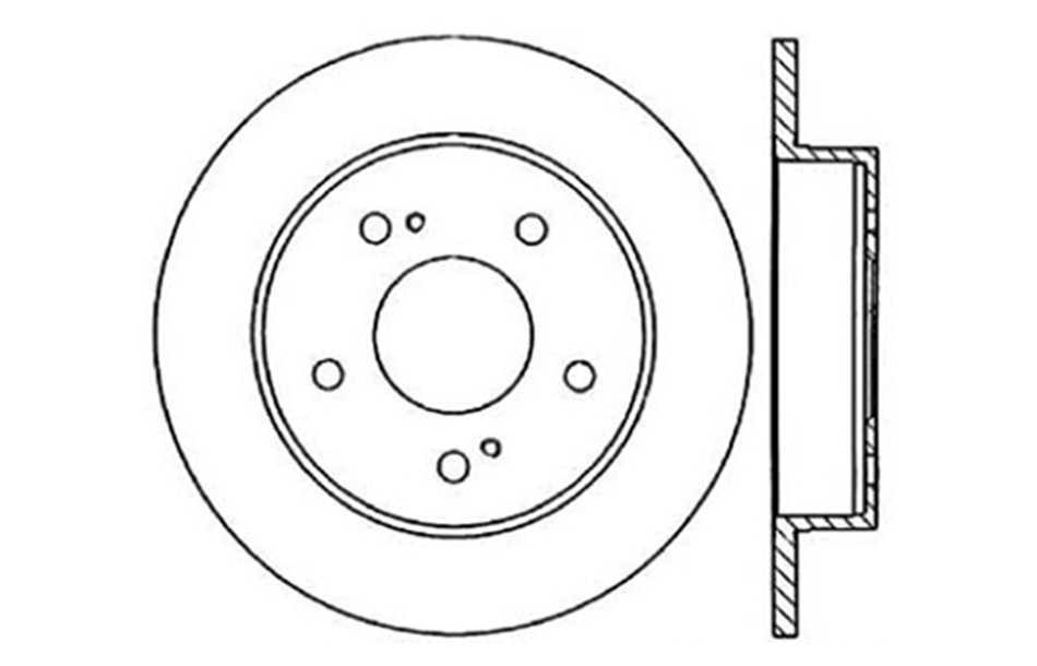 CENTRIC PARTS - Disc Brake Rotor - CEC 121.42044