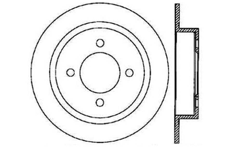 CENTRIC PARTS - Disc Brake Rotor (Rear) - CEC 121.42054