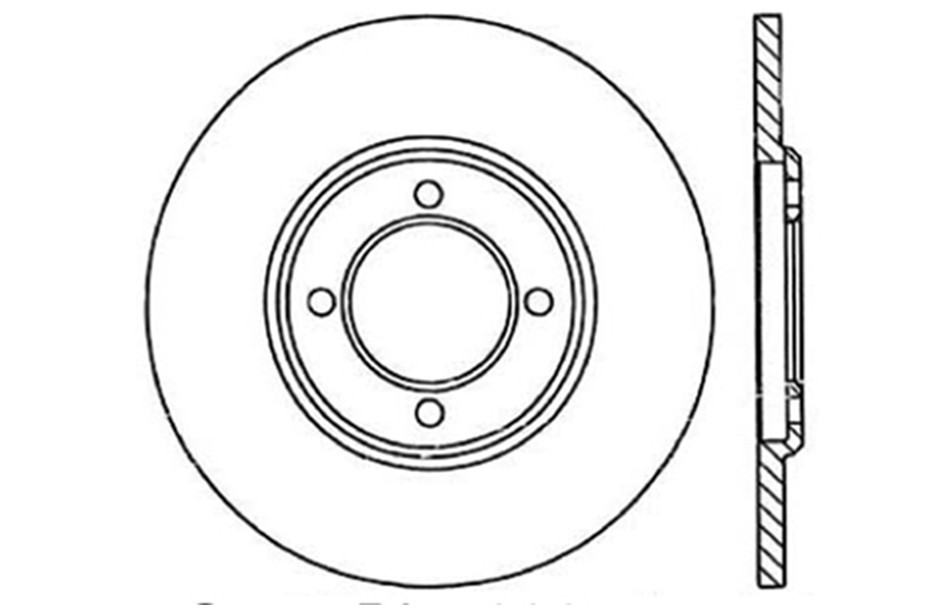 CENTRIC PARTS - Disc Brake Rotor - CEC 121.44005