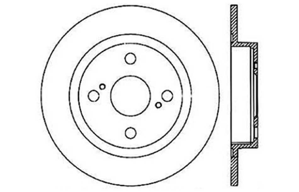 CENTRIC PARTS - Disc Brake Rotor - CEC 121.44053
