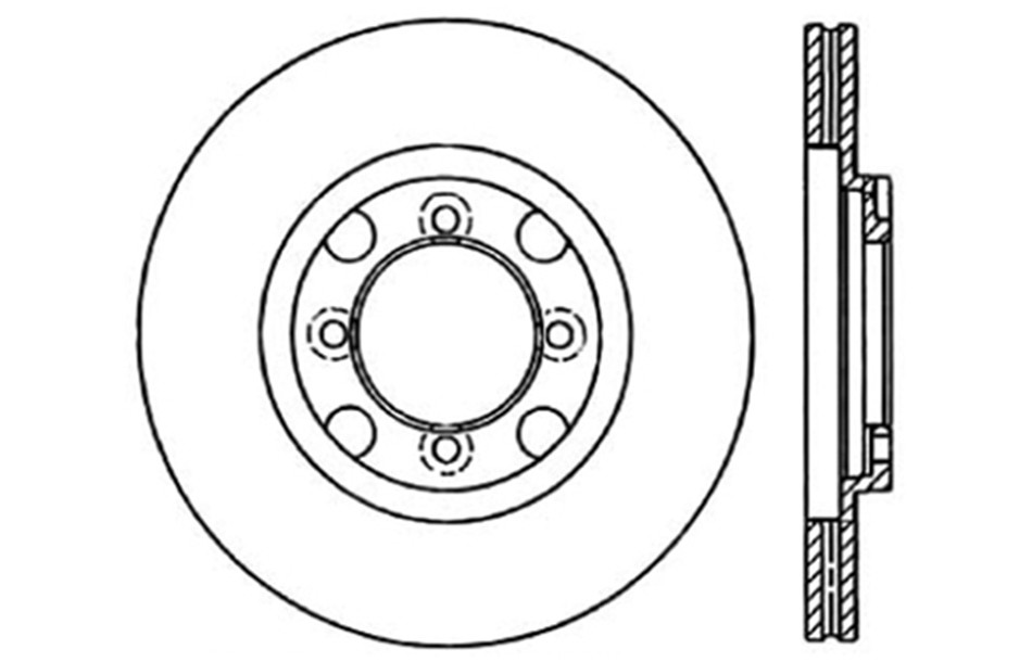 CENTRIC PARTS - Disc Brake Rotor (Front) - CEC 121.45015