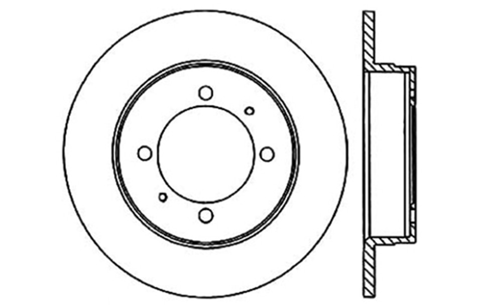 CENTRIC PARTS - Disc Brake Rotor - CEC 121.46024