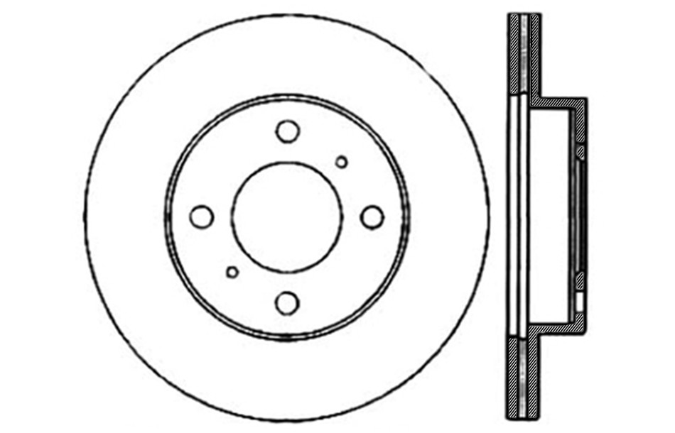 CENTRIC PARTS - Disc Brake Rotor - CEC 121.46043