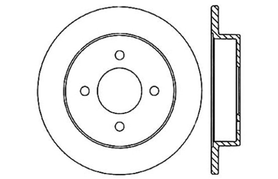 CENTRIC PARTS - Disc Brake Rotor - CEC 121.46045