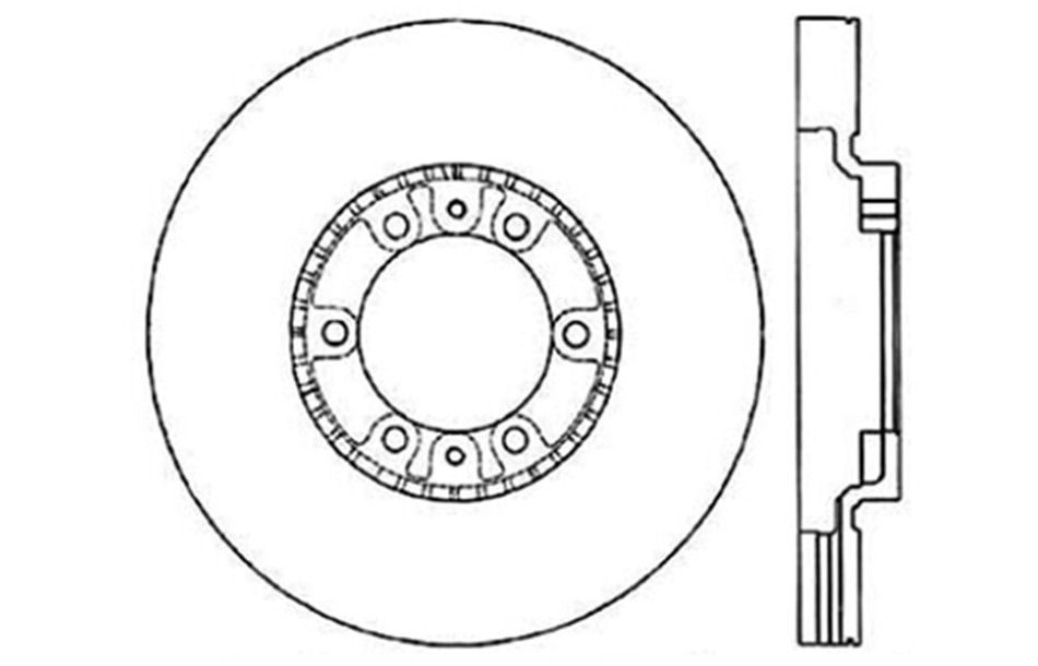 CENTRIC PARTS - Disc Brake Rotor (Rear) - CEC 121.46054